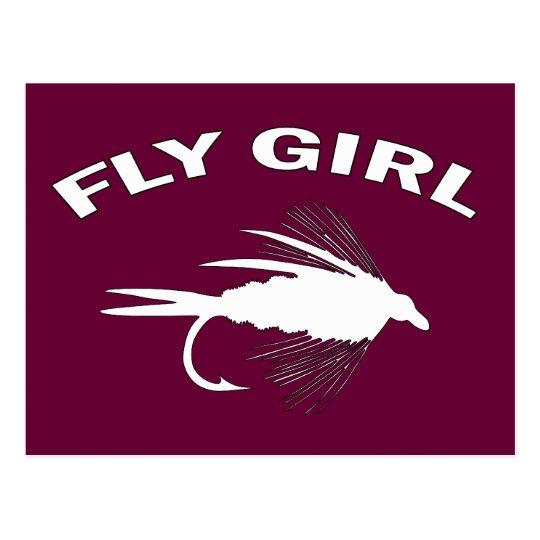 FLY GIRL POSTCARD