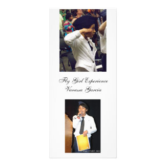 fly girls book mark customized rack card