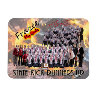 """Fly Girls State Kick Runners-up 3x4"""" photo magnet"""