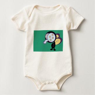 Fly graphic cartoon baby bodysuit