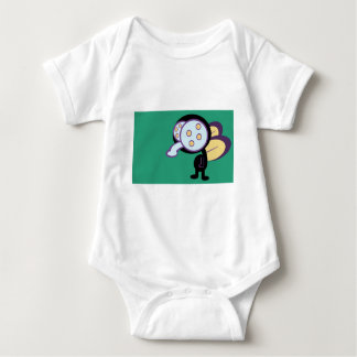 Fly graphic cartoon infant creeper
