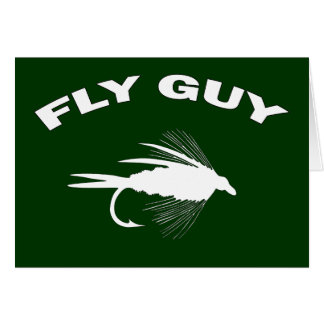 Fly Guy Fly fishing lure Card