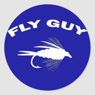 Fly Guy Fly fishing lure Classic Round Sticker