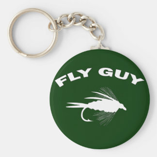 Fly Guy Fly fishing lure Keychain