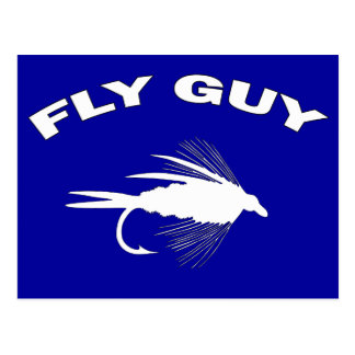 Fly Guy Fly fishing lure Postcard