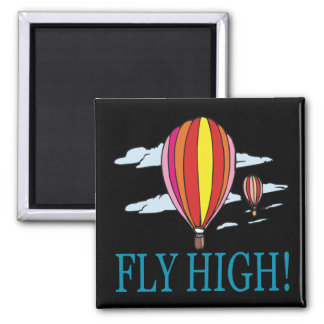 Fly High 2 Inch Square Magnet