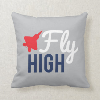 Fly High Airplane Throw Pillow