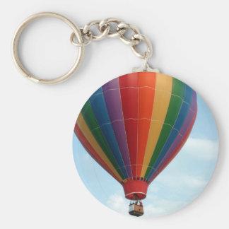 Fly High Basic Round Button Keychain