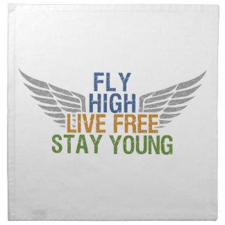 FLY HIGH custom cloth napkins