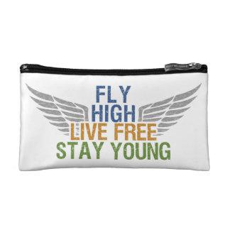 FLY HIGH custom cosmetic / accessory bag
