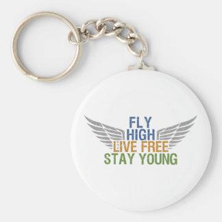 FLY HIGH custom key chain