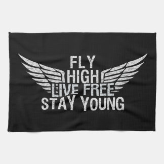 FLY HIGH custom kitchen towels