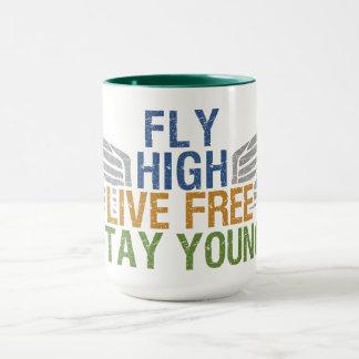 FLY HIGH custom mug – choose style & color