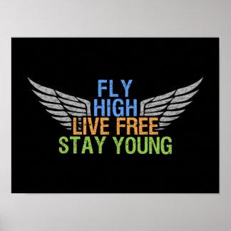 FLY HIGH custom poster