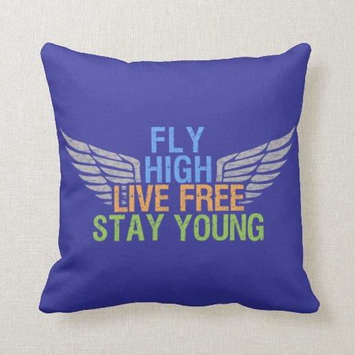 FLY HIGH custom throw pillow Zazzle