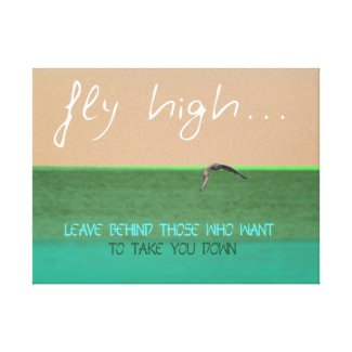 Fly High Digital Art Canvas Print