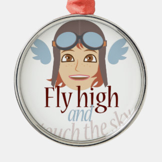 Fly High Metal Ornament