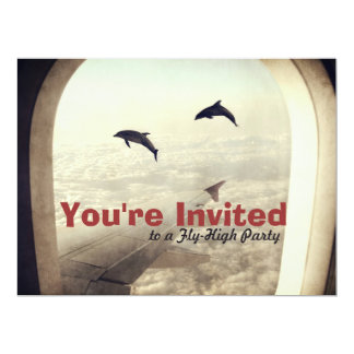 "Fly High Party Birthday Invitation 6.5"" X 8.75"" Invitation Card"