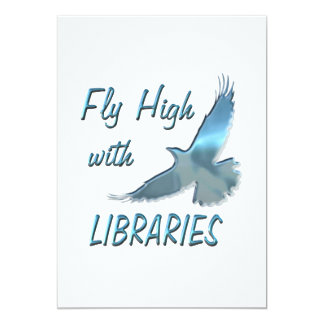 Fly High with Libraries Custom Invitations