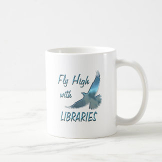 Fly High with Libraries Classic White Coffee Mug