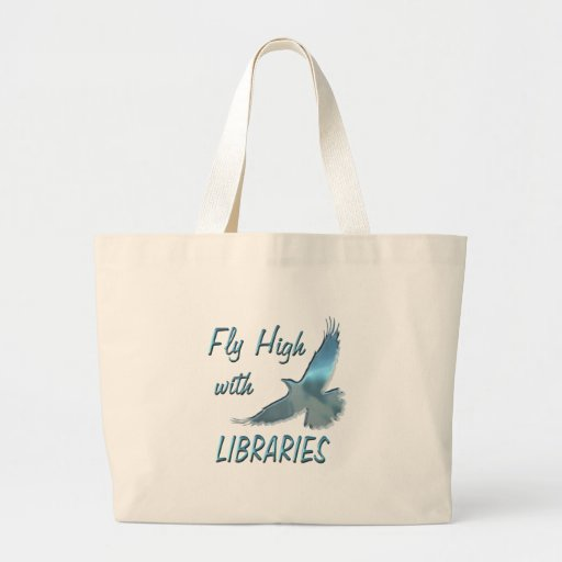 Fly High with Libraries Tote Bags