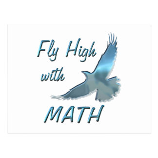 Fly High with Math Postcard