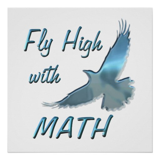 Fly High with Math Poster