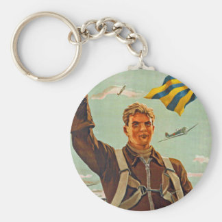 Fly Higher, Further and Faster! Keychain