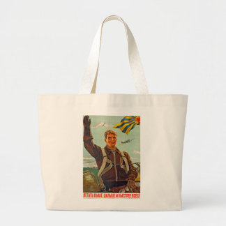 Fly Higher, Further and Faster! Large Tote Bag