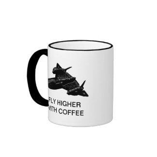 FLY HIGHER WITH COFFEE RINGER COFFEE MUG