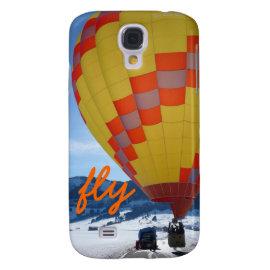 Fly Hot Air Balloon Rising Samsung Galaxy S4 Case
