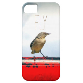 Fly industrial rustic chic sparrow swallow bird iPhone SE/5/5s case