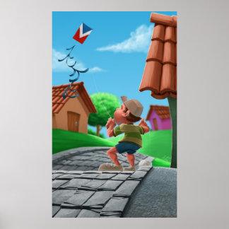 fly kite poster