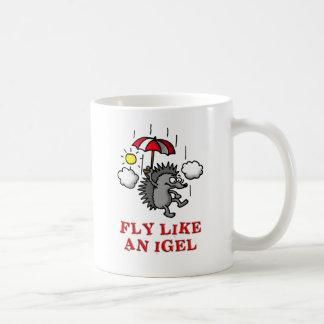 fly like a igel taza básica blanca