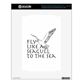 Fly Like A Seagull To The Sea Skins For NOOK