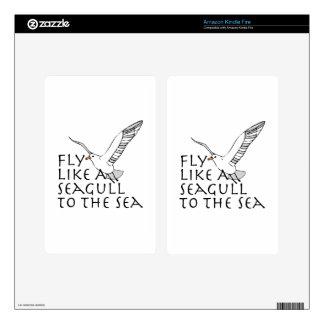 Fly Like A Seagull To The Sea Kindle Fire Skin