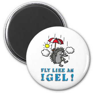 fly like at hedgehogs 2 inch round magnet