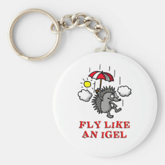 fly like at hedgehogs keychain