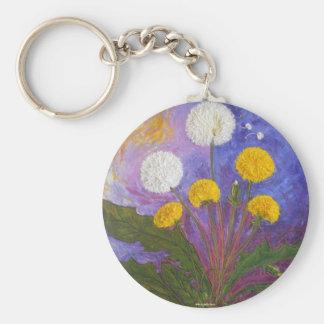 Fly Little Dandelion Fly Basic Round Button Keychain