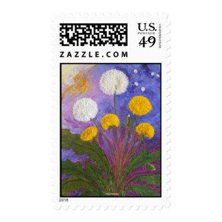 Fly Little Dandelion Fly Postage Stamp