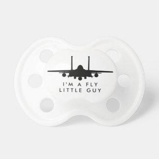 Fly LIttle Guy Strike Eagle Silhouette Pacifier