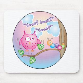 Fly little owl! / Vol petit hiboux! Mouse Pad