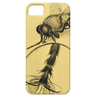 Fly Magnifying Glass Insect Vintage Antique Art iPhone SE/5/5s Case
