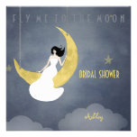 Fly Me to The Moon 2 Bridal Shower Custom Invitations