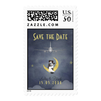 Fly Me to The Moon 2 Save the Date Postage