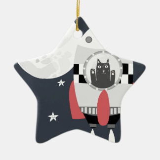 fly me to the moon ceramic ornament