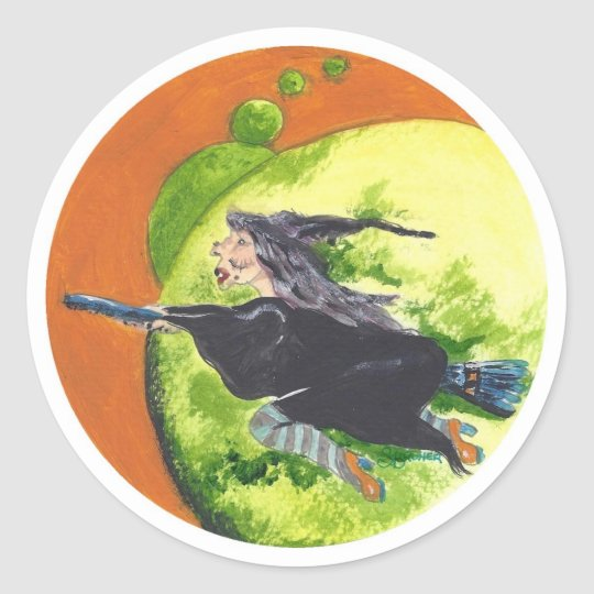 Fly me to the Moon Classic Round Sticker