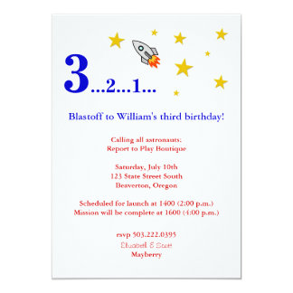 Fly Me to the Moon for My Birthday Invite