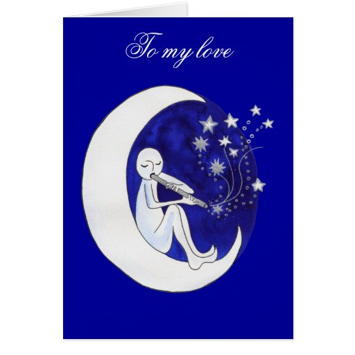 Fly me to the moon greeting cards
