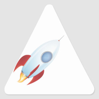 Fly me to the moon - Rocket Design Triangle Sticker